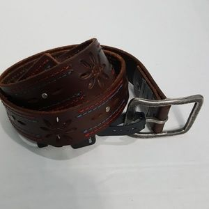 NWT Silver Jeans brown leather belt